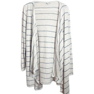 American Eagle Striped Open Front Cardigan Sweater